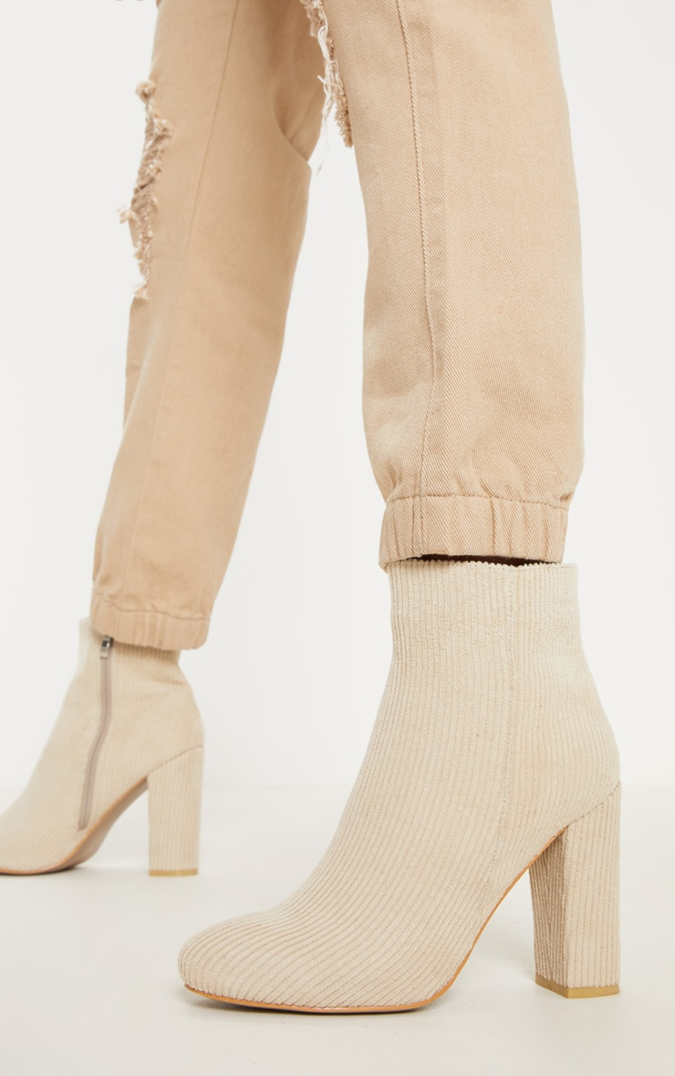 Cream Cord Behati Ankle Boot 2
