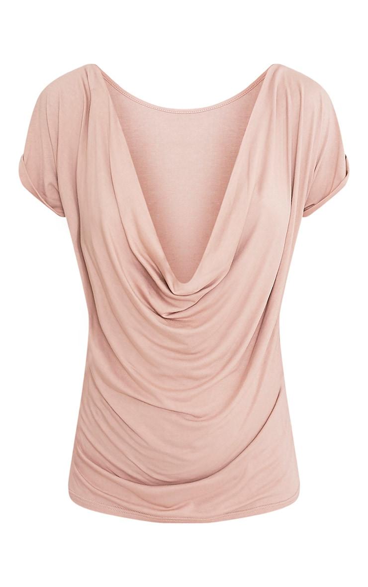 Bea Stone Multi Way Cowl Neck T Shirt 5