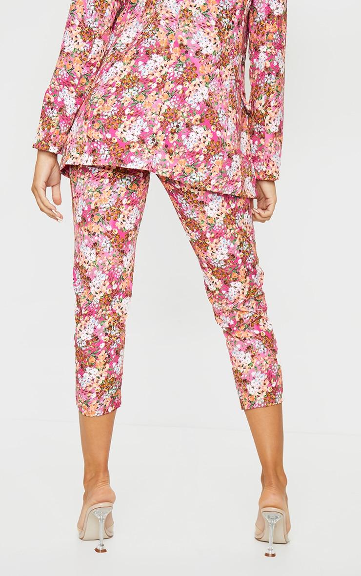 Pink Ditsy Floral Cigarette Pants 3