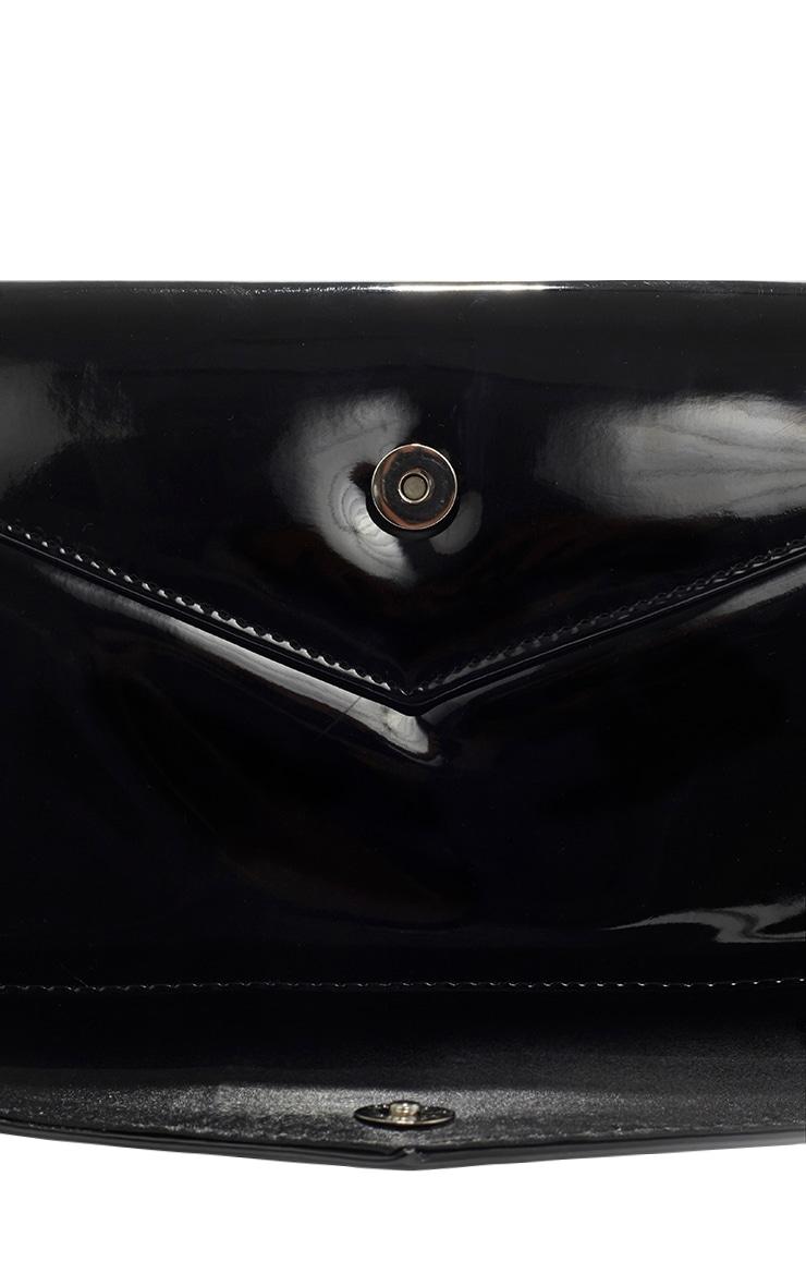 Ashanti Black Patent Clutch Bag 3