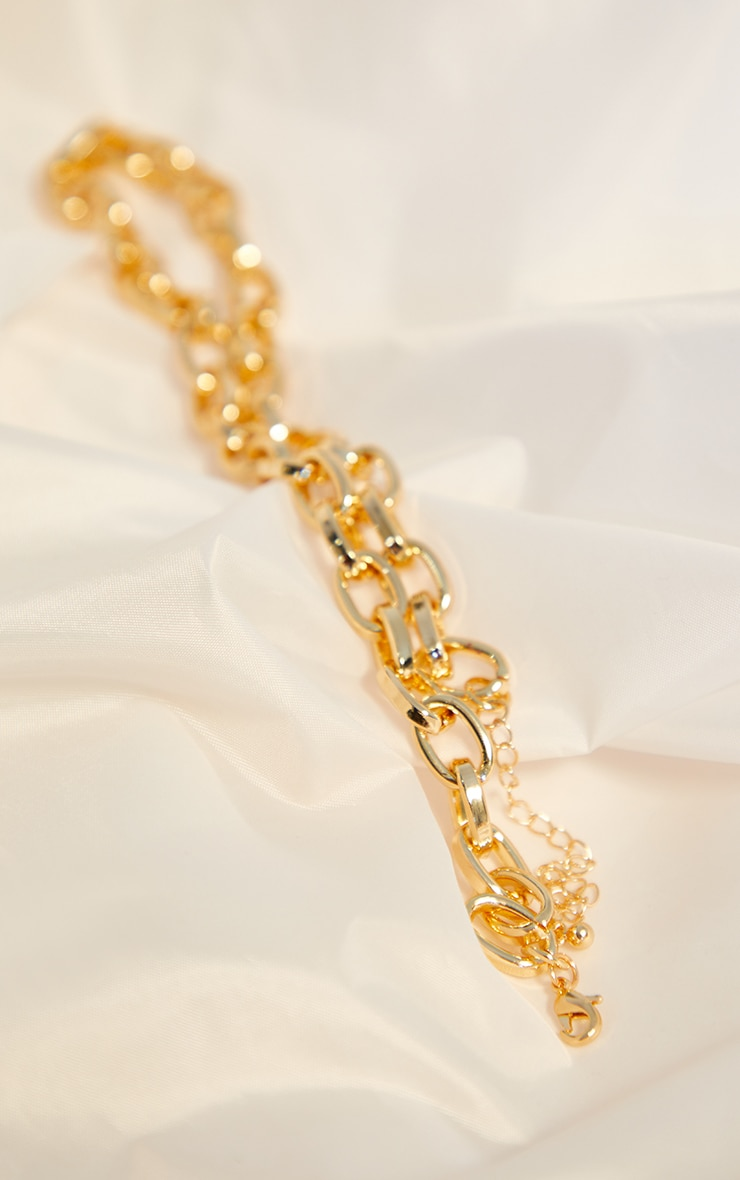 Gold Oval Chain Necklace 3