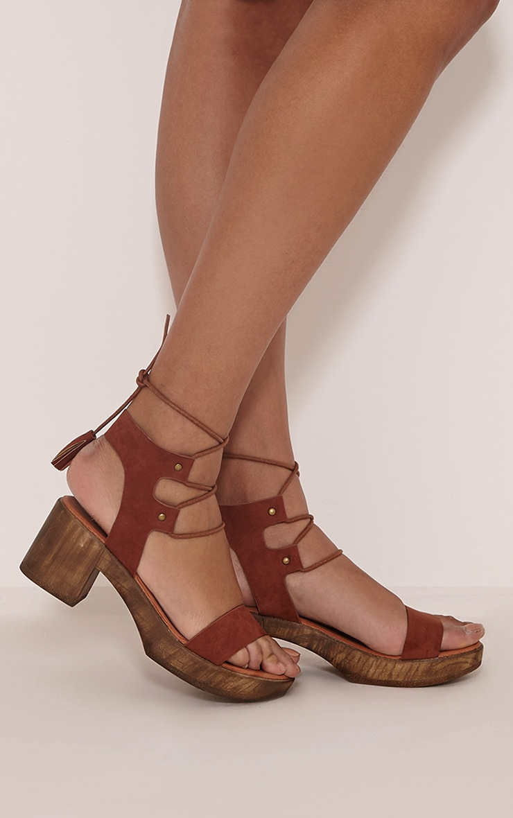 Nita Tan Tassel Tie Detail Sandals 2
