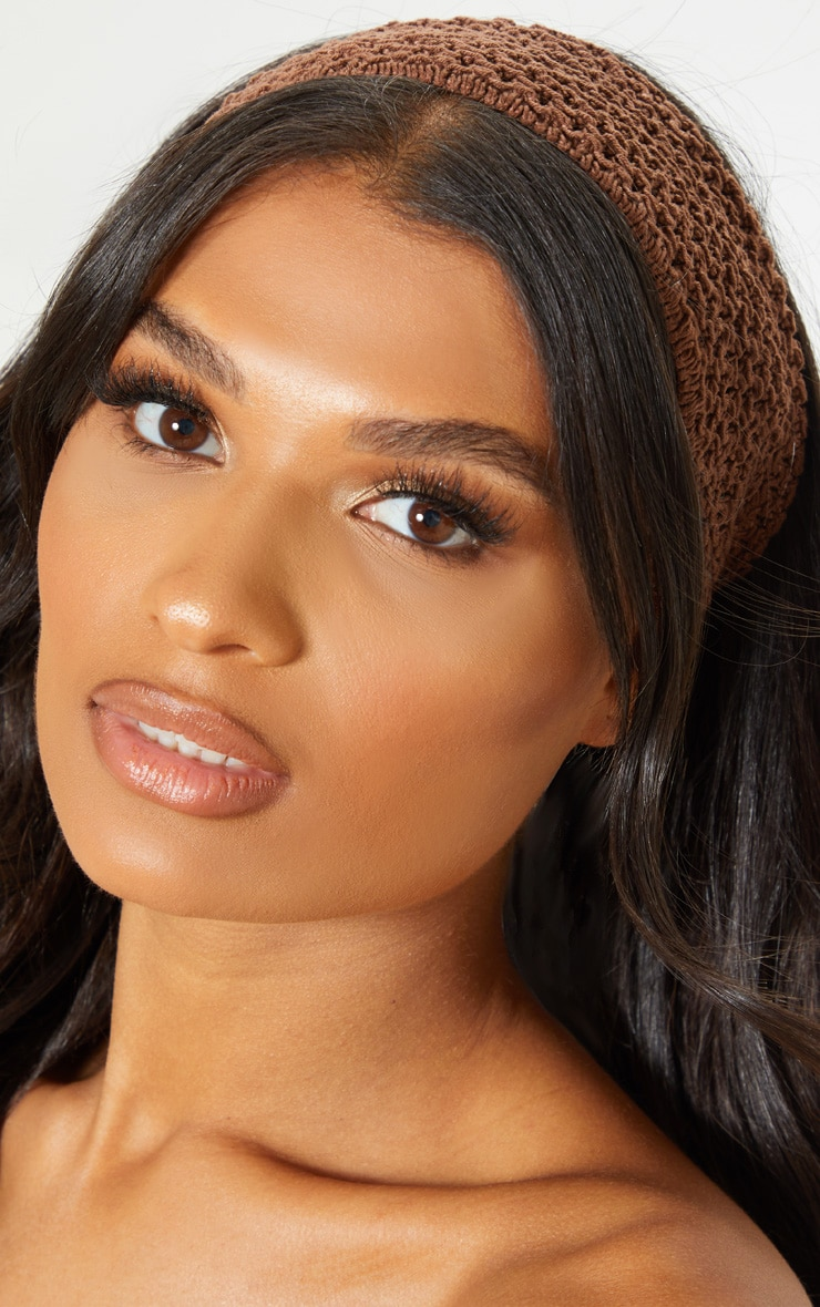 Brown Crochet Headband 1