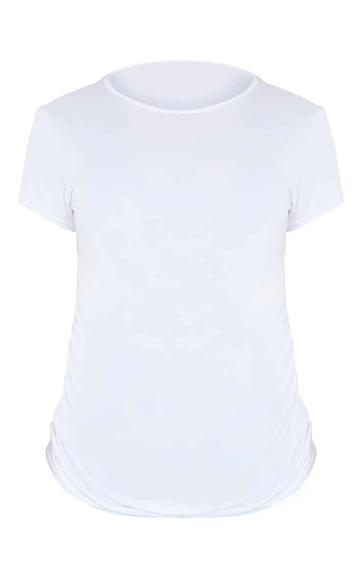 Maternity White Basic Crew Neck Fitted T Shirt 5