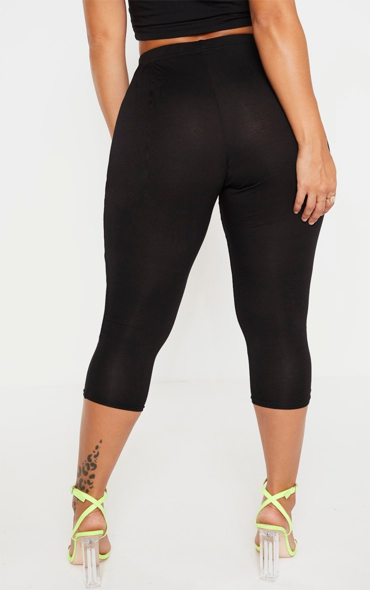 Shape Black Jersey Cropped Leggings 4
