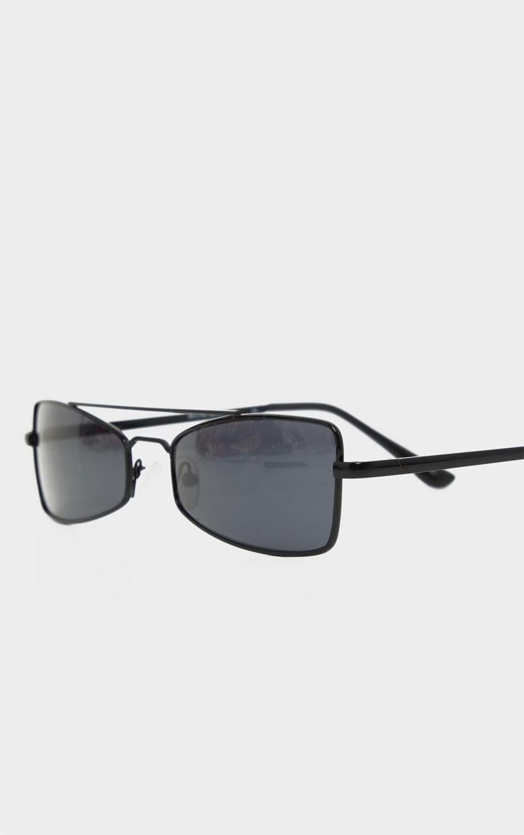 Black Brow Bar Retro Sunglasses 3