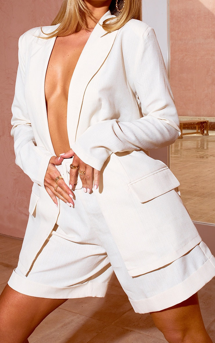 White Tailored Oversized Blazer 4