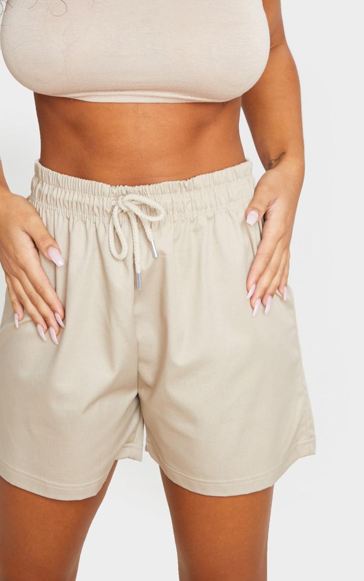 Stone Twill Drawstring Waist Shorts 5