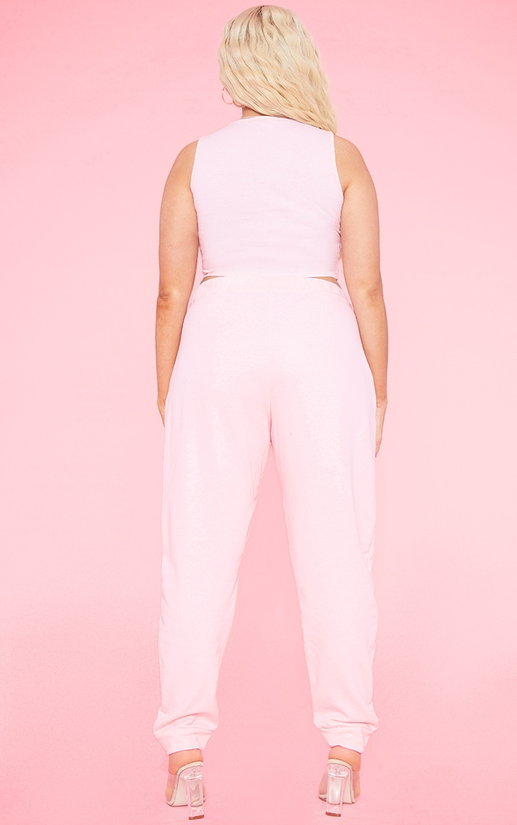 RECYCLED Plus Blush Square Neck Crop Top 5