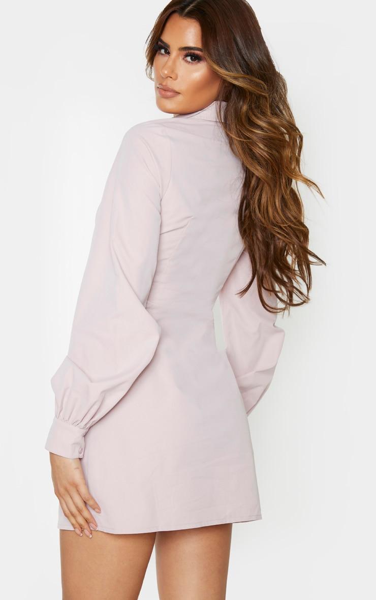 Tall Blush Corset Detail Shirt Dress 3