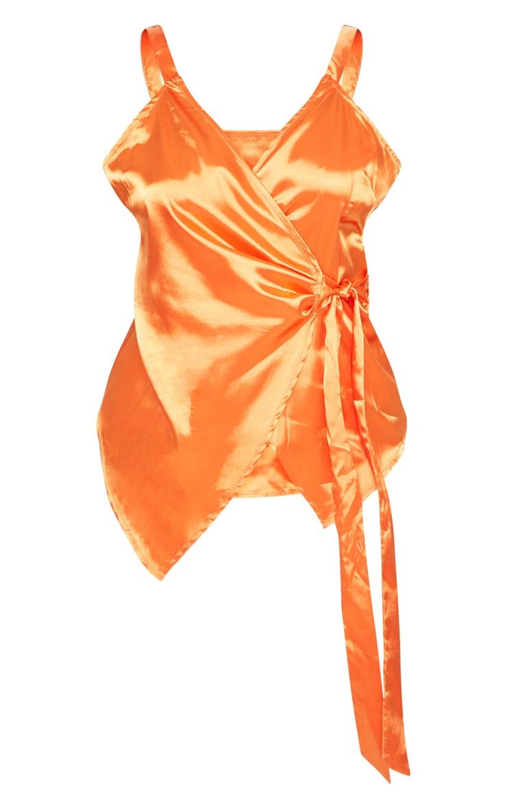 Plus Orange Wrap Top 3