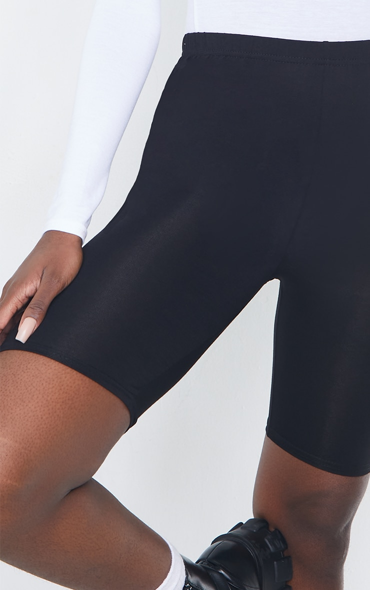 Tall Black Basic Jersey Bike Short 5