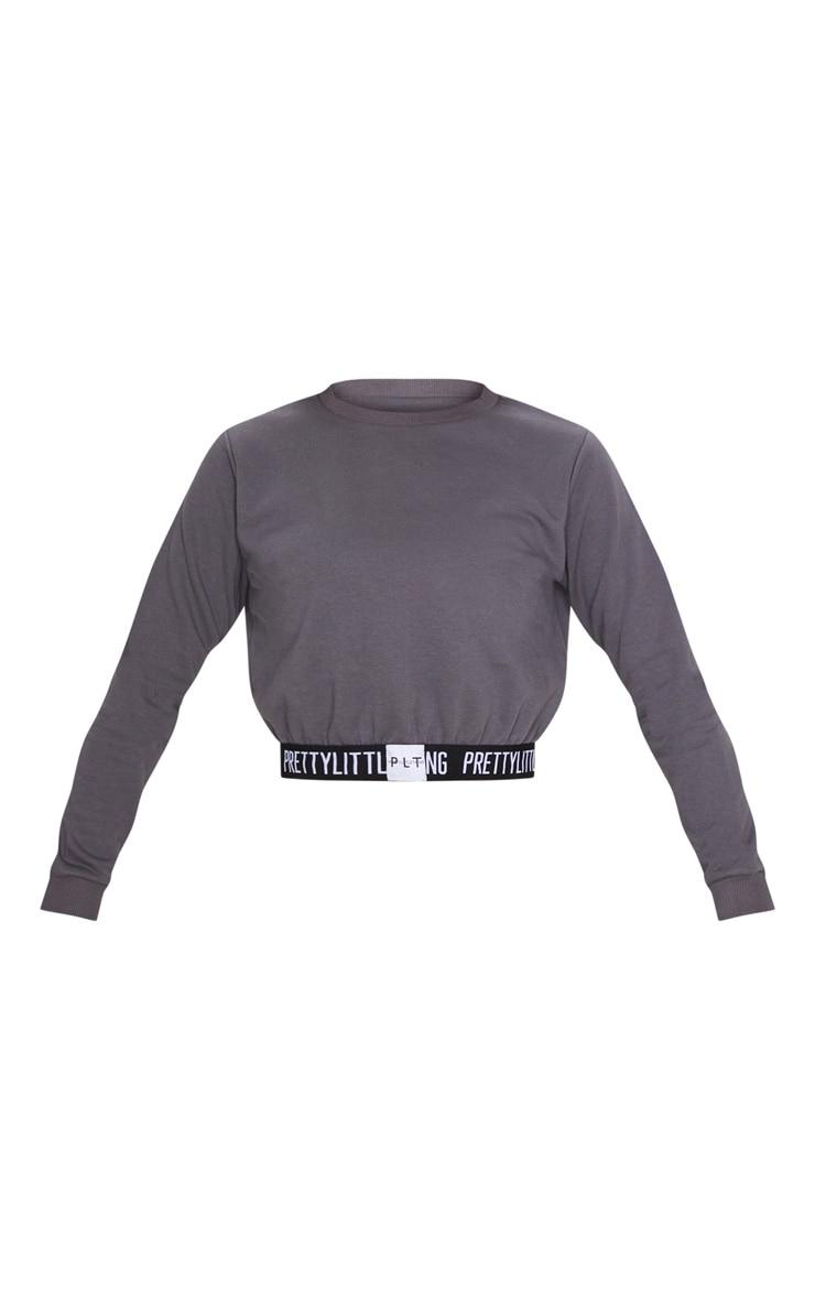 PRETTYLITTLETHING Charcoal Grey Lounge Sweatshirt 3