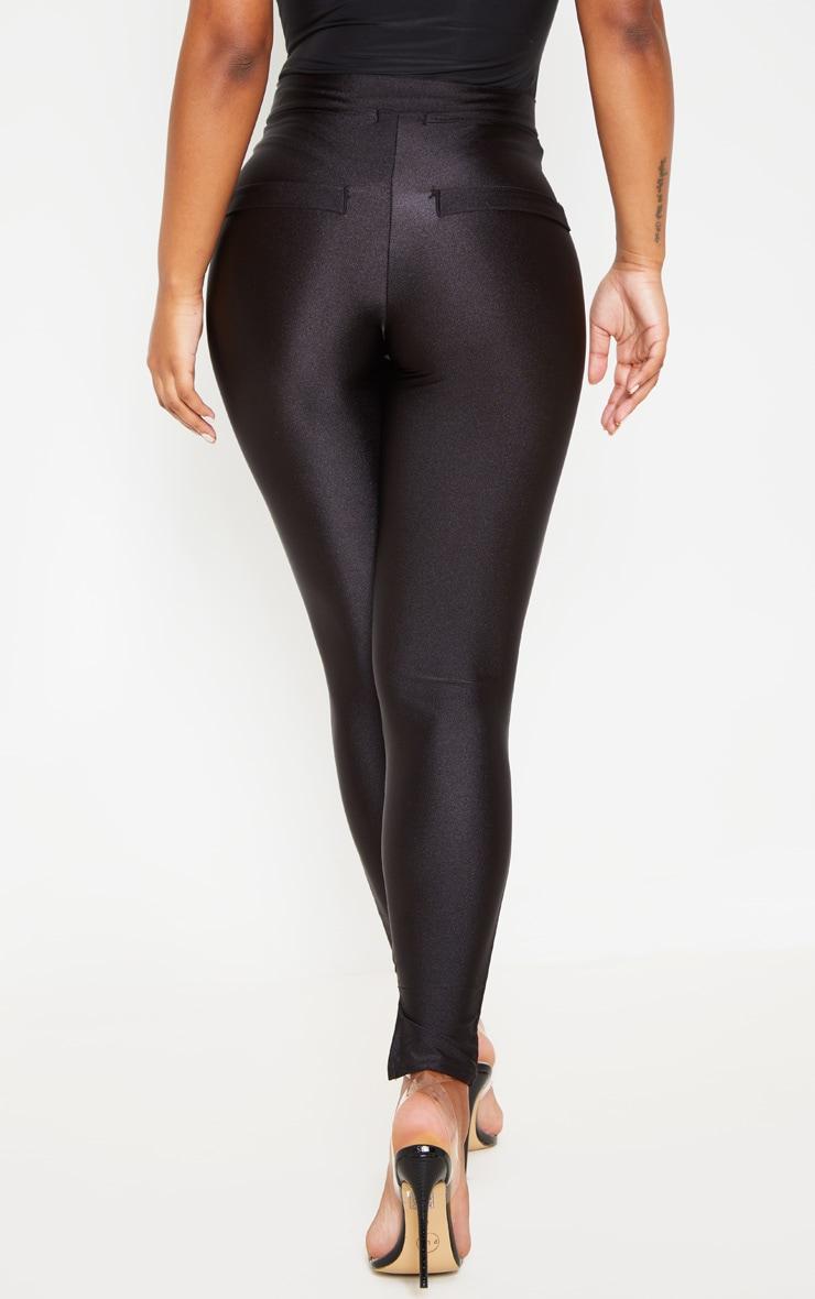 Black Disco Split Hem Skinny Trouser  4