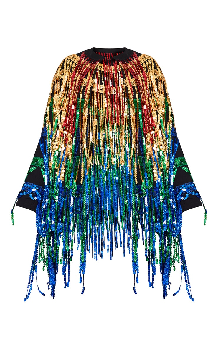 Ellie Multi Coloured Sequin Fringed Jacket  3