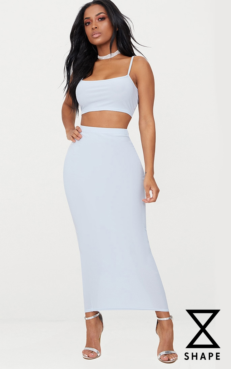 Shape Light Blue Midaxi Skirt  1