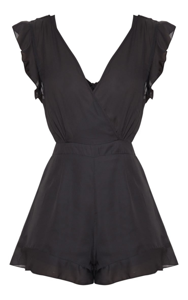 Black Tie Back Playsuit 3