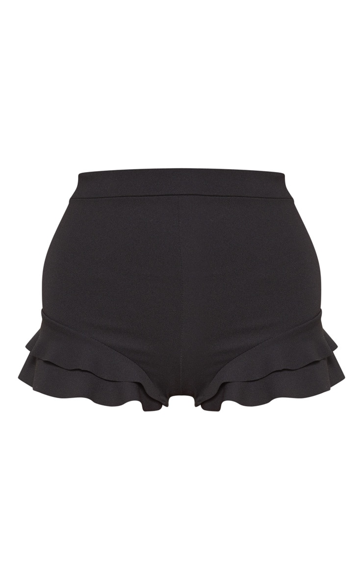 Black Ruffle Detail Short 3