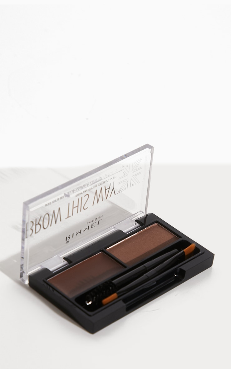 Rimmel Brow This Way Mid Brown Eyebrow Kit 2