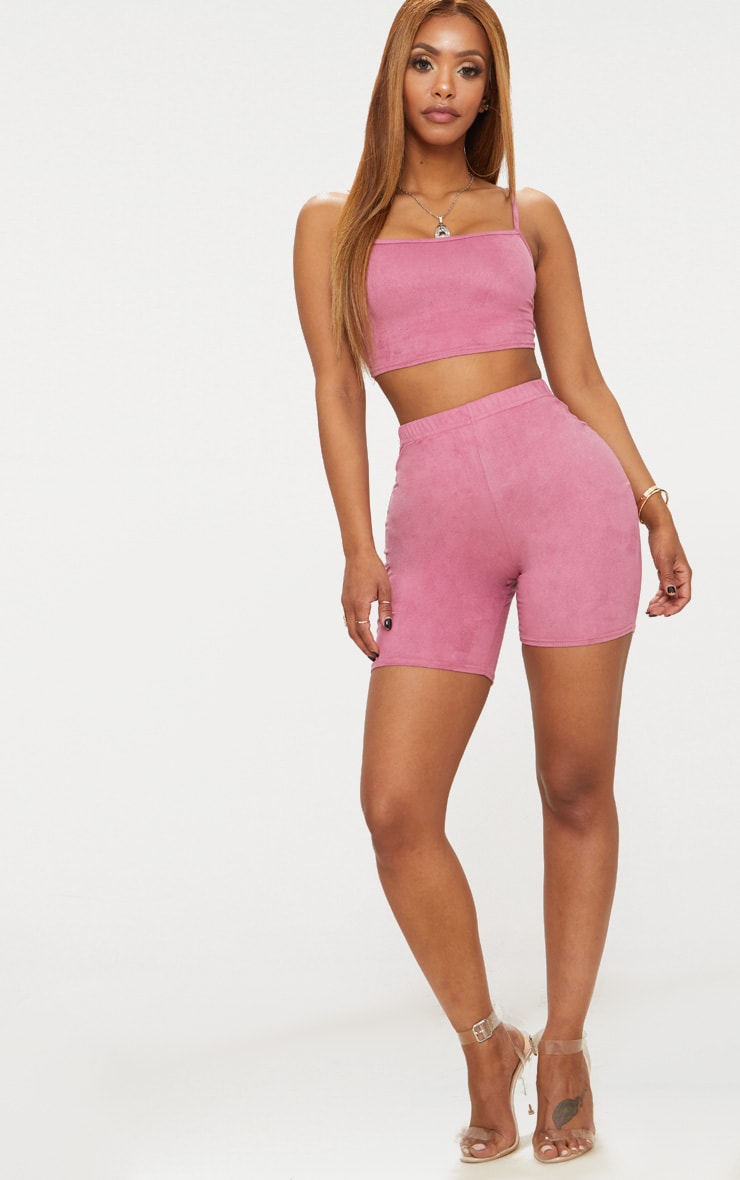 Shape Rose Faux Suede Cycling Shorts 5