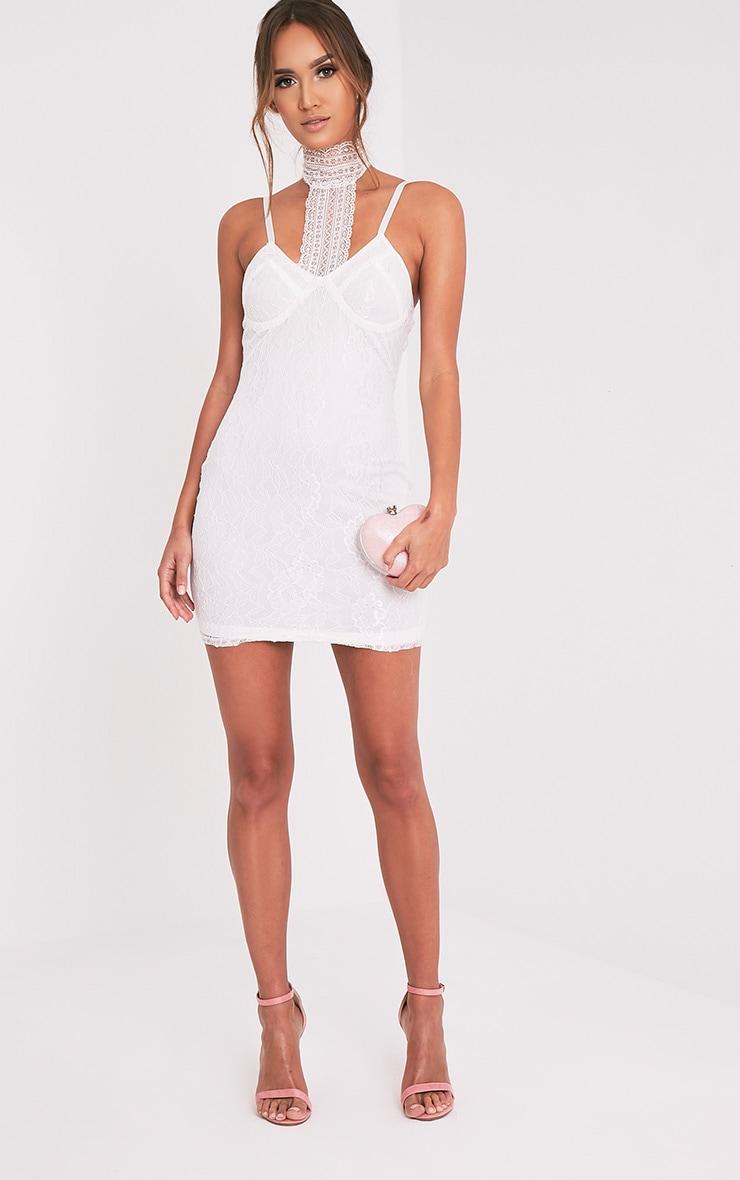 Victoria White Choker Detail Lace Bodycon Dress 9