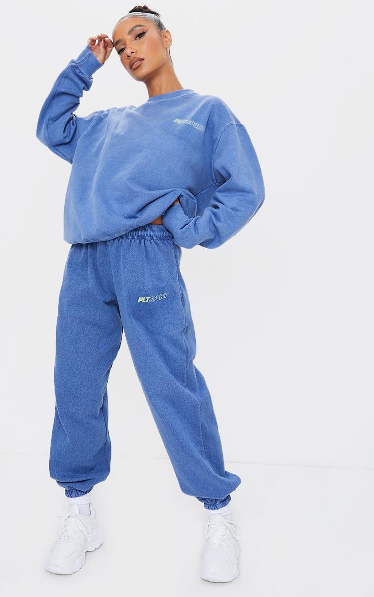 PRETTYLITTLETHING Blue Sport Joggers 1