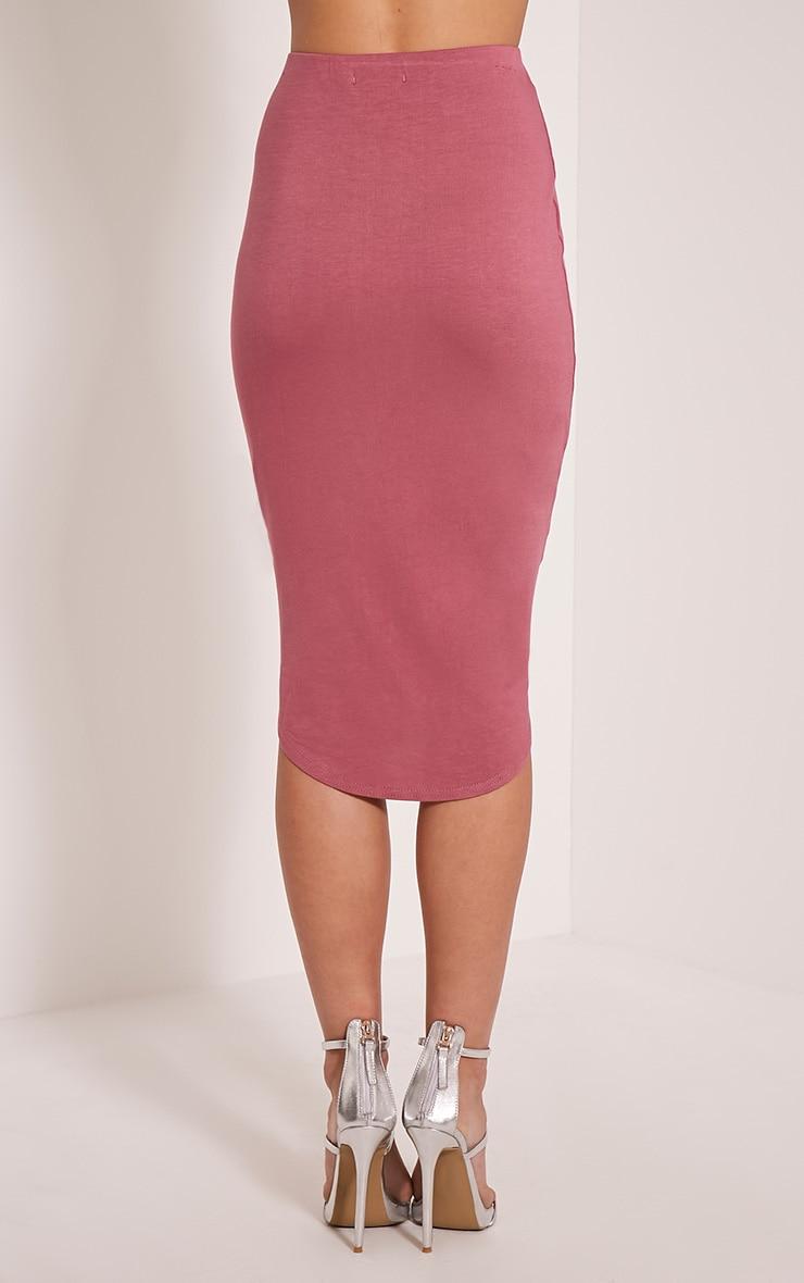 Ariana Rose Curved Hem Midi Skirt 5