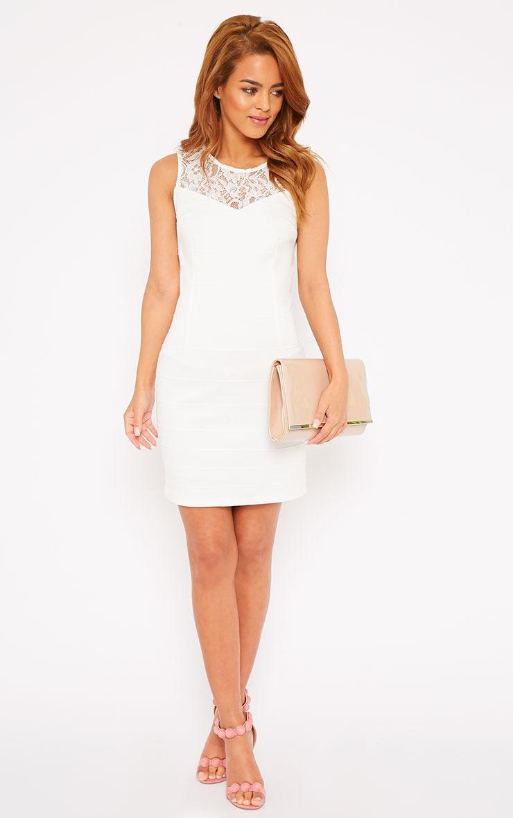 Primrose Cream Lace Top Bandage Dress 3