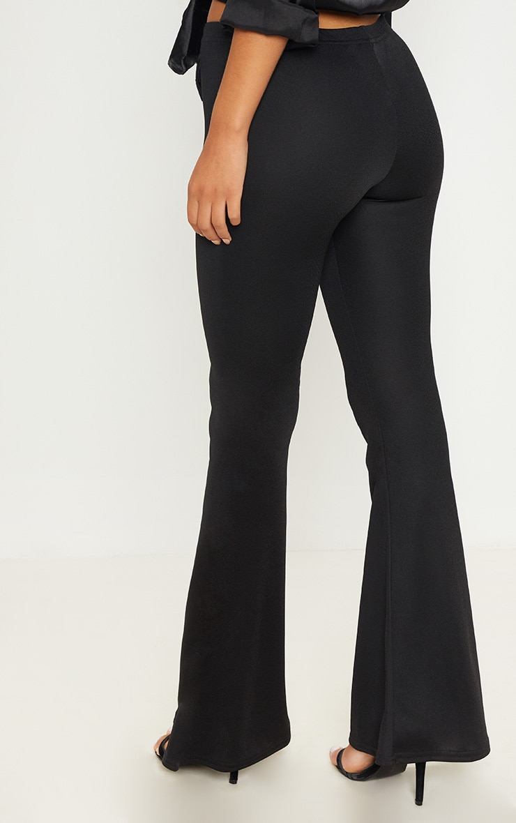 Black Ultimate Flared Trousers 4