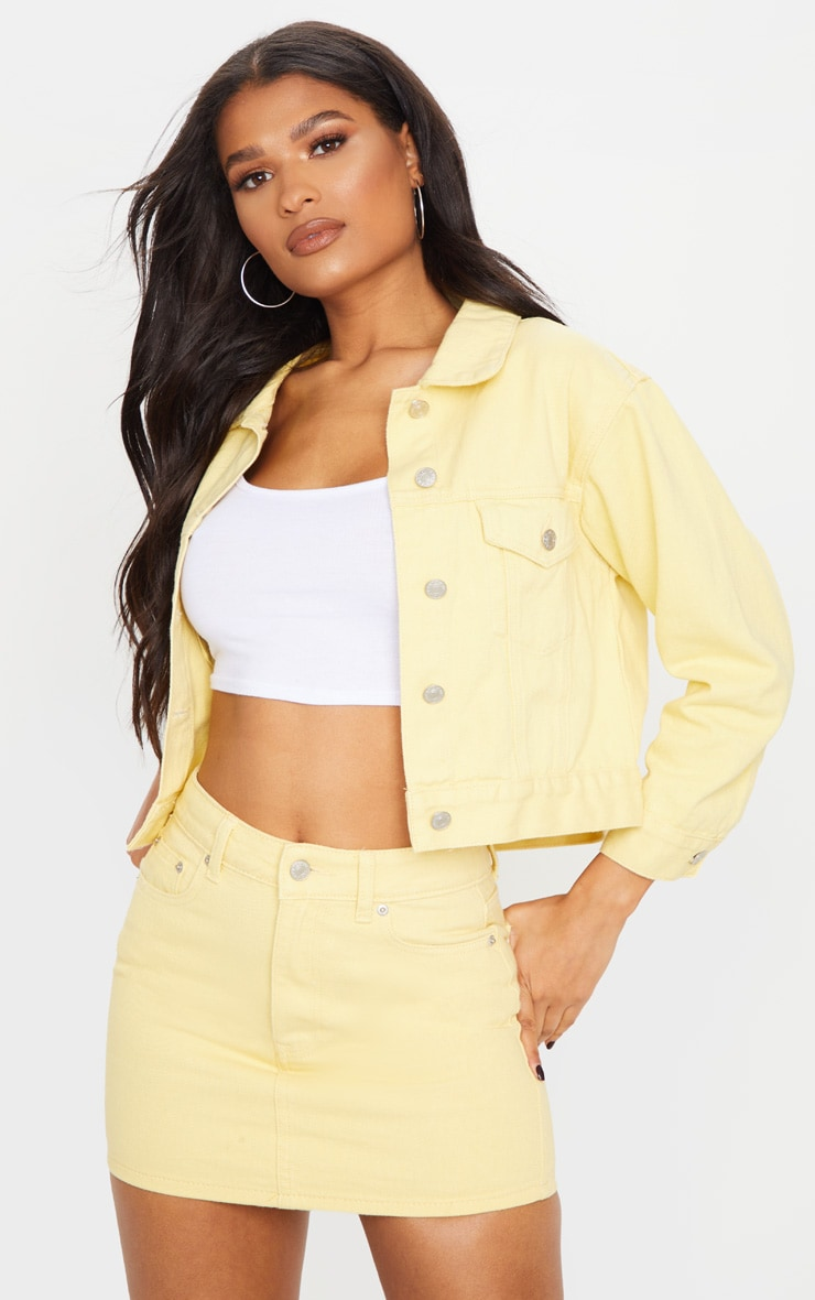 Lemon Denim Mini Skirt 1