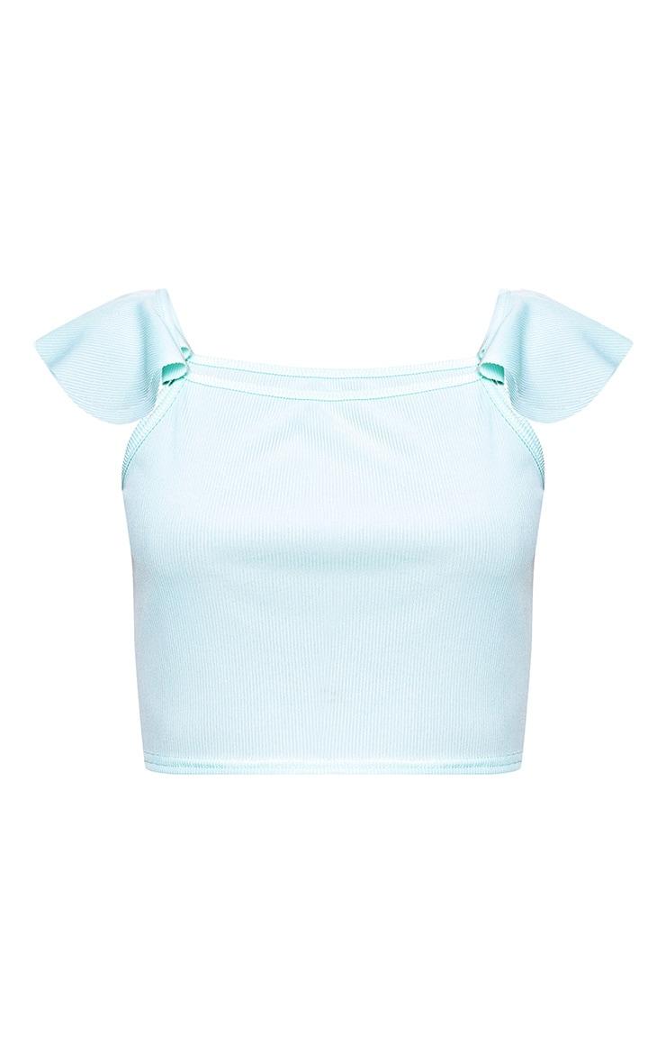Mint Frill Sleeve Cami Vest 3