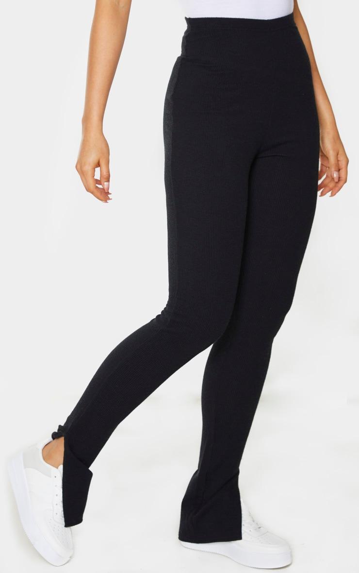 Tall - Legging en maille noir àourlet fendu 2