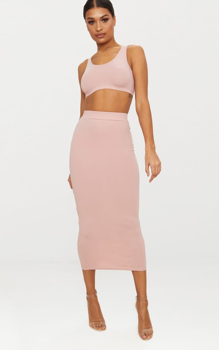 Rose Second Skin Scoop Neck Crop Top 1