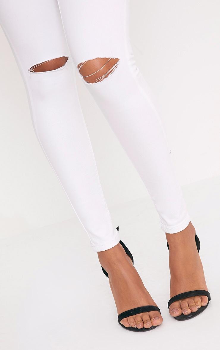 Elidih White Knee rip Skinny Jean 4