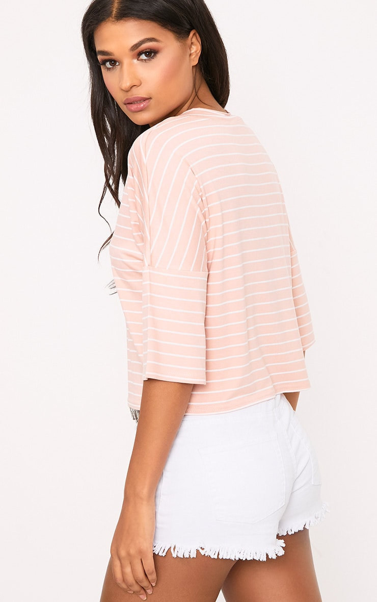 Pink Stripe Oversized T Shirt 2
