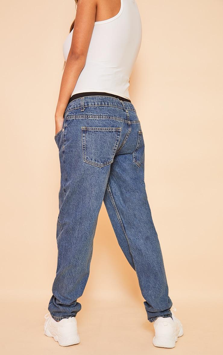 Maternity Blue Vintage Wash Mom Jeans 3