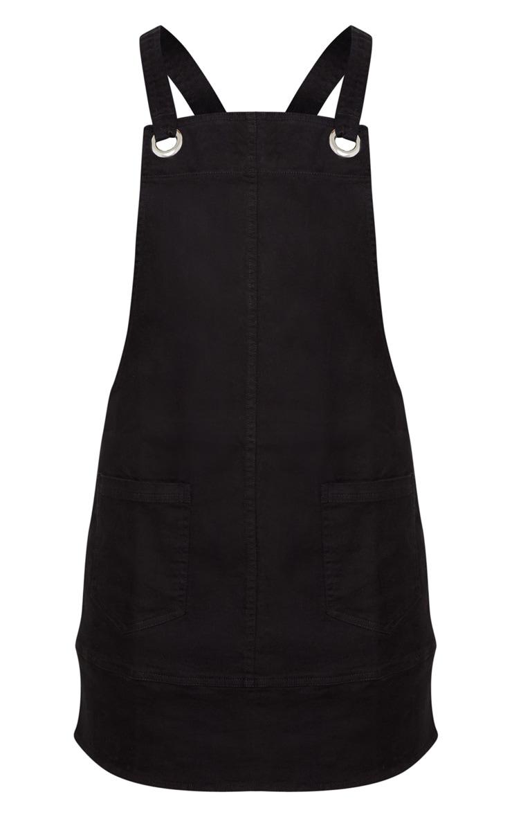 Black  Wash Pinafore Dress  3