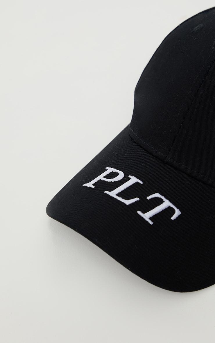 PRETTYLITTLETHING Initial Black Baseball Cap 3