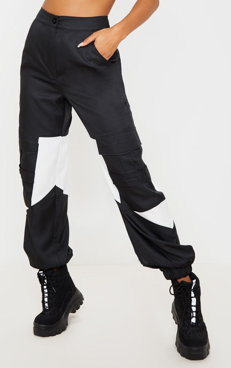 Black Cargo Contrast Pocket Trouser 3