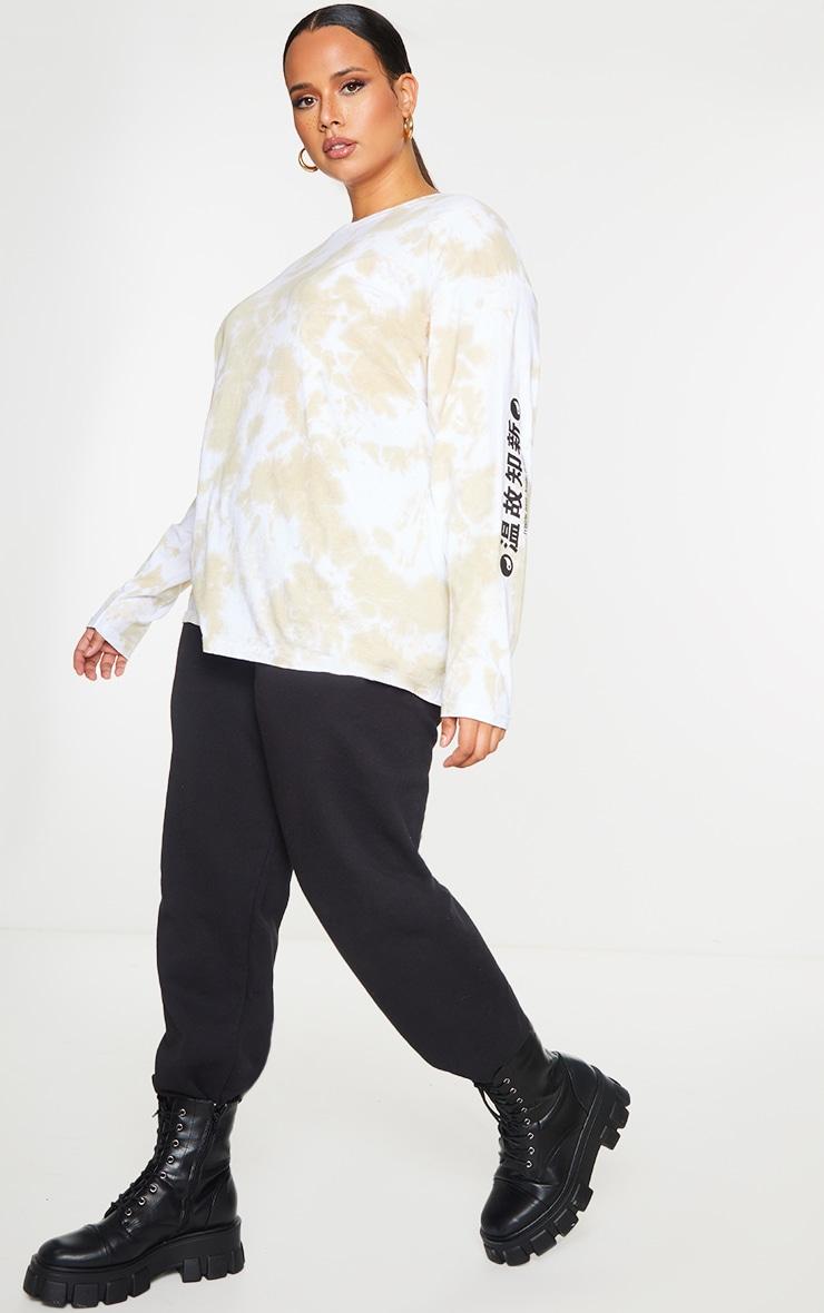 Plus Stone Tie Dye Tokyo Long Sleeve T-Shirt 3