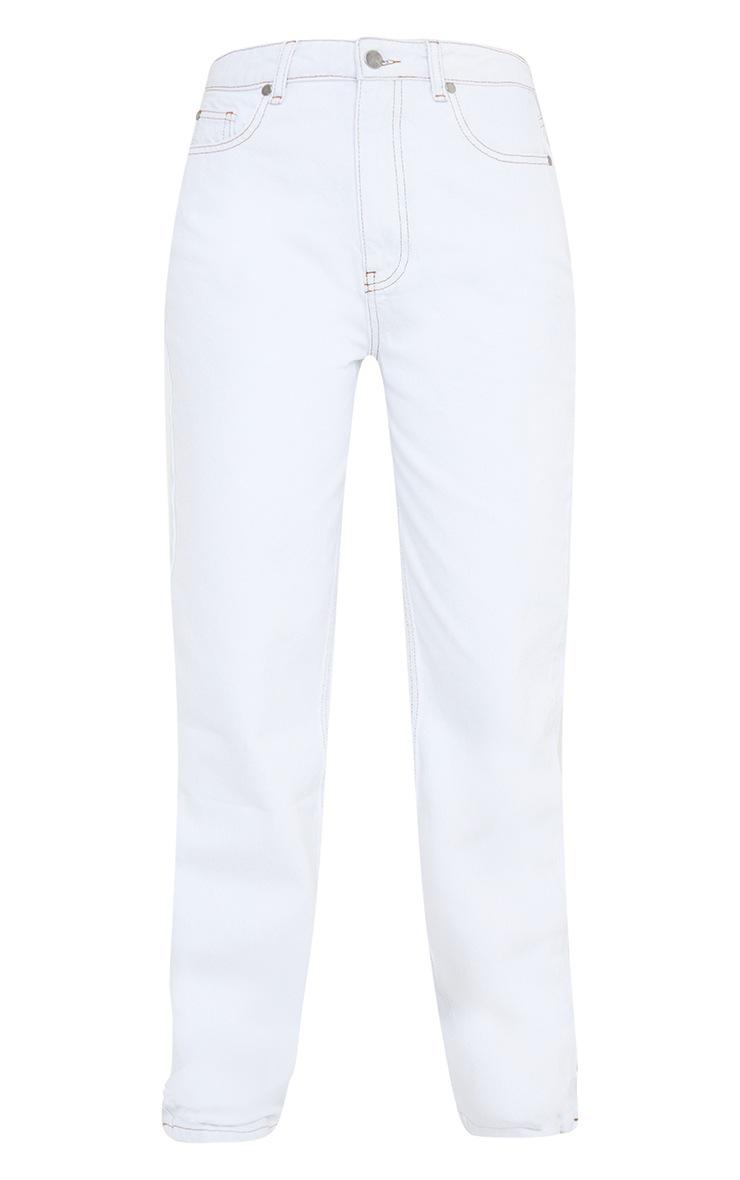 Off White Long Leg Straight Jeans 5