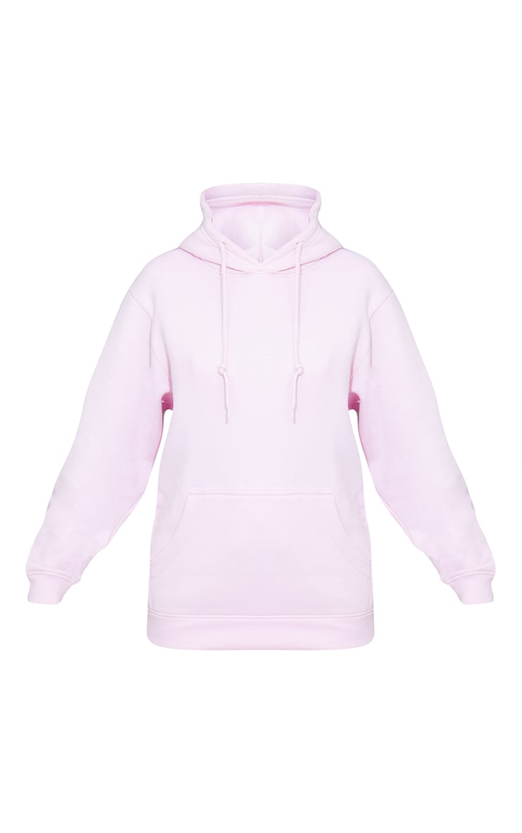 Recycled Baby Pink Oversized Sweat Hoodie 5