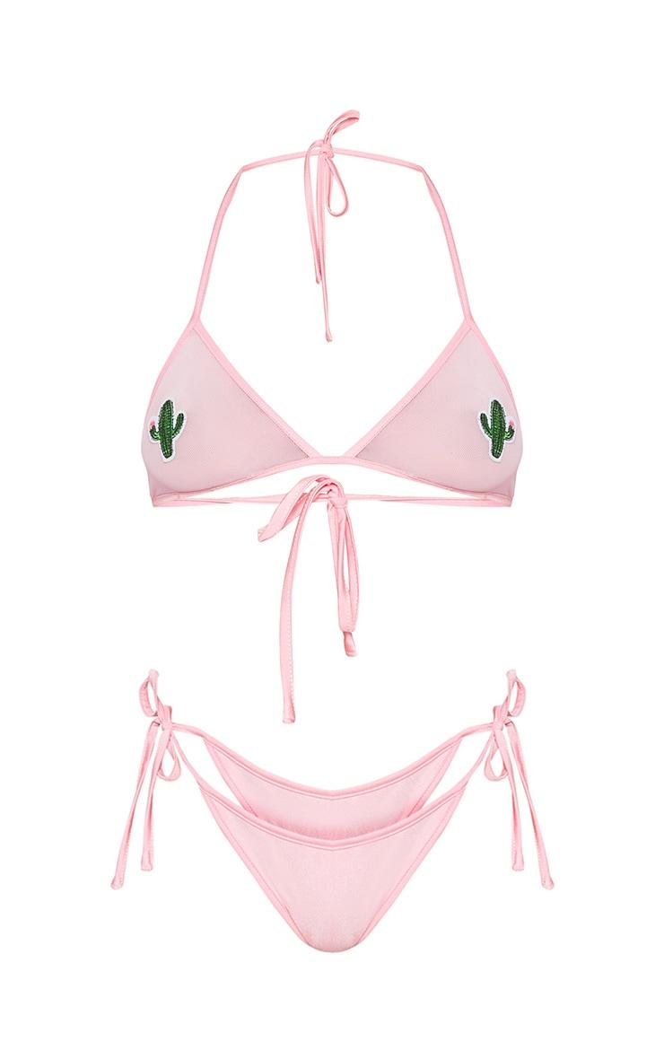 Camia Pink Cactus Bikini Set 3