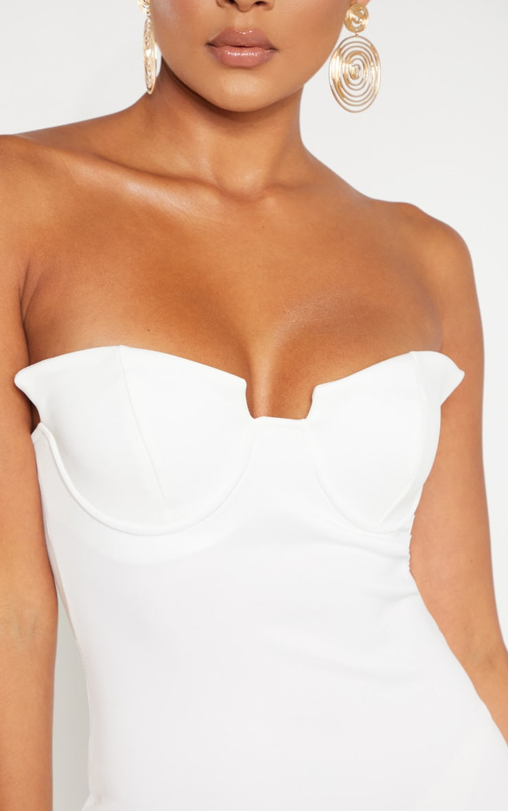 White Winged Bandeau Bodycon Dress 5