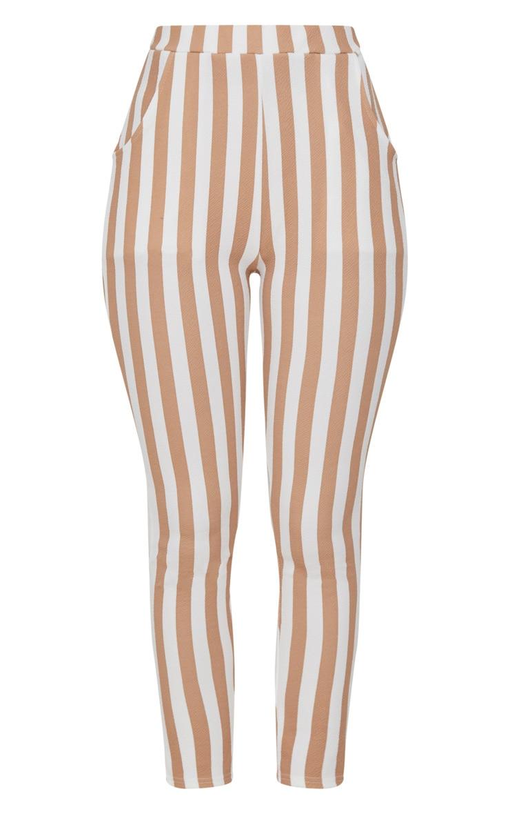 Stone Stripe Skinny Trouser 3