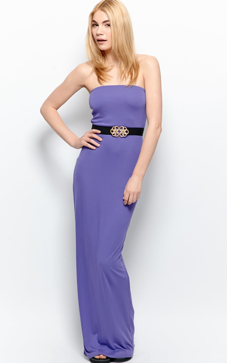 Albany Purple Bandeau Maxi Dress  3
