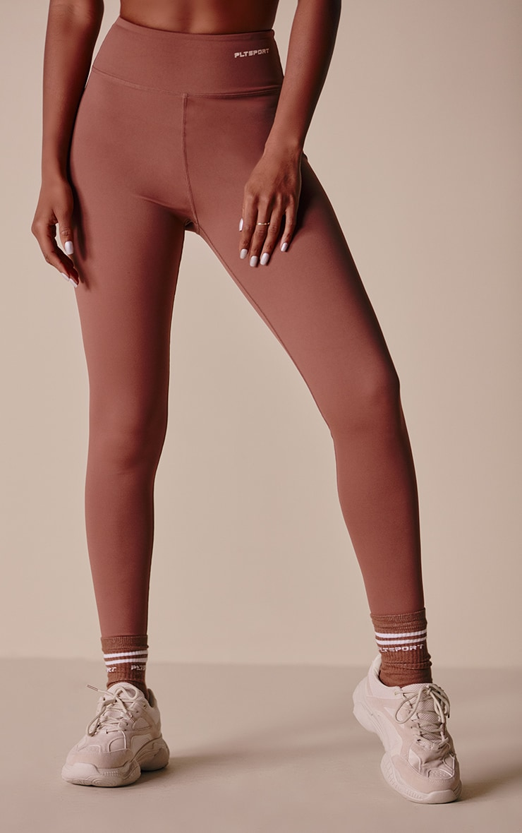 PRETTYLITTLETHING Toffee Sculpt Luxe Gym Leggings 2