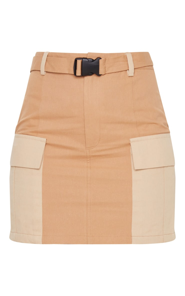 Stone Cargo Pocket Belted Mini Skirt 3