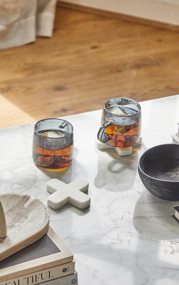Black Glass Mugs Set Of 2 1