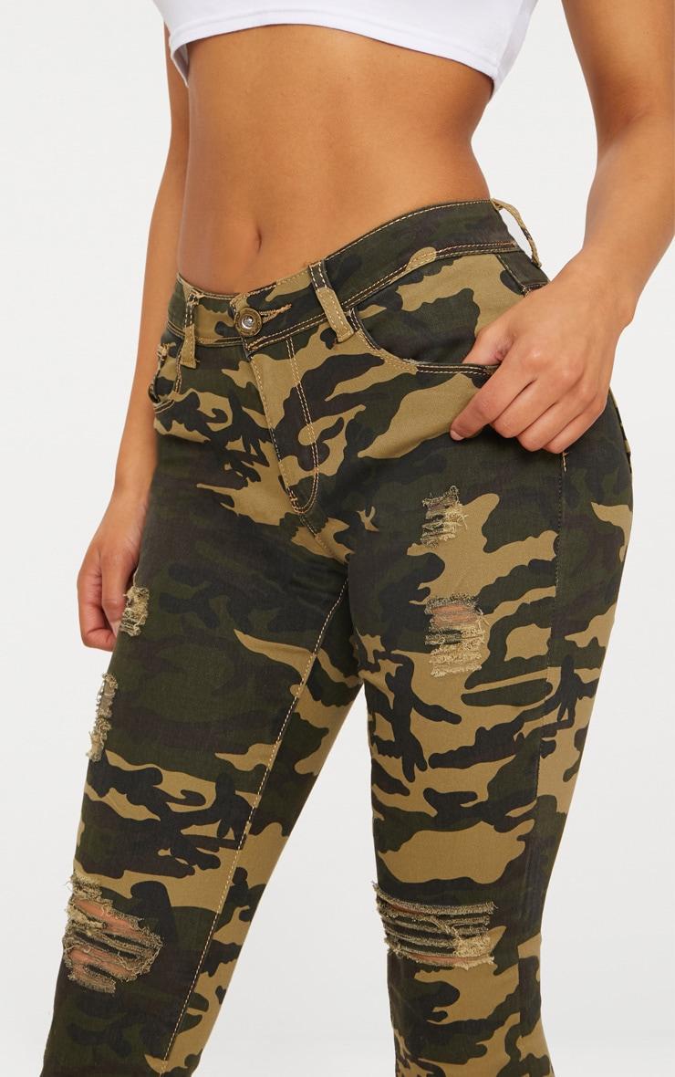 Khaki Camouflage Skinny Jean 5